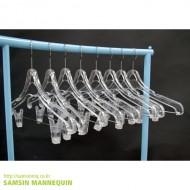 아동용 투명집게 옷걸이-한벌걸이  [5개묶음] -1206