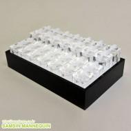 4단(28개) 사각투명반지 박스세트 -92816