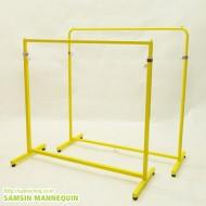 (용접형,주문품)컬러밴딩조절 고정식행거 둥근모&각진모 [노랑]-239432