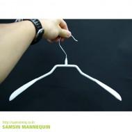 [특가세일] 철재코팅 여성상의 옷걸이 백색 [500개묶음] -64396