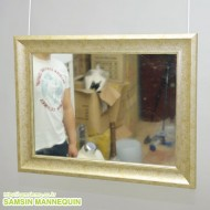 (z) 몰딩장식 고급 거울 [골드] -66140