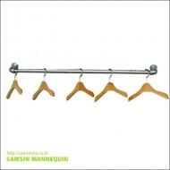 [주문품,용접형] samsin1) 25파이 수도관파이프 백관 벽면,천정행거, 벽ㄷ자 (주문품)-8801