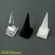 원뿔 반지(투명,반투명,검정)-3235
