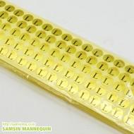 사이즈스티커 [L-금]-6451 [10장묶음]