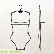 아동수영복옷걸이[여자-검정](한벌걸이,원피스걸이) [10개묶음] -4751