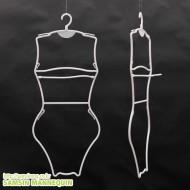성인수영복옷걸이[여자-백색](성인한벌걸이,원피스걸이)-10개묶음-154412