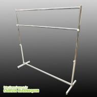 (HD)이동식 조립형 최저가 행가 32파이 튼튼한 2단행거(120cm,150cm,180cm)- 4796