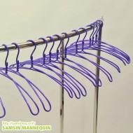 (z)컬러 8자옷걸이-보라색