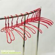 (z)컬러 8자옷걸이-빨강