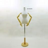 여자우레탄백색상반신+피노키오팔+원발 -5239