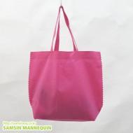 50장 셋트) 부직포가방 [핑크-소]-2123