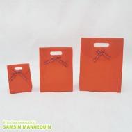 고급 덮개봉투-무지주황(속옷, 악세사리)-12장묶음-64411